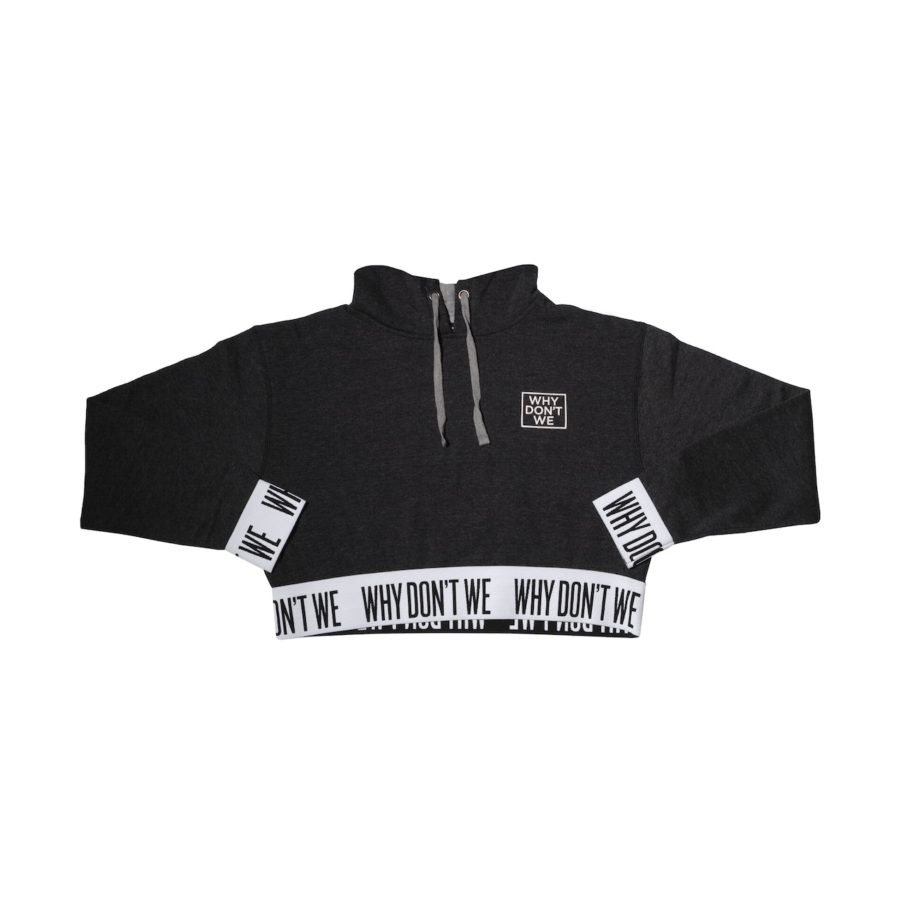 64e7c2a0d Why Don't We. Crop Top Hoodie (Black)