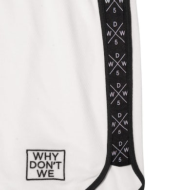 Why Don't We Panel Shorts (White)