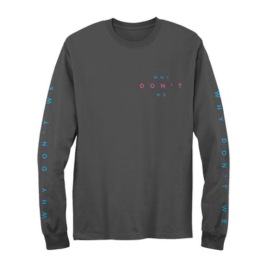 Why Don't We 3D Line Text Long Sleeve T-Shirt
