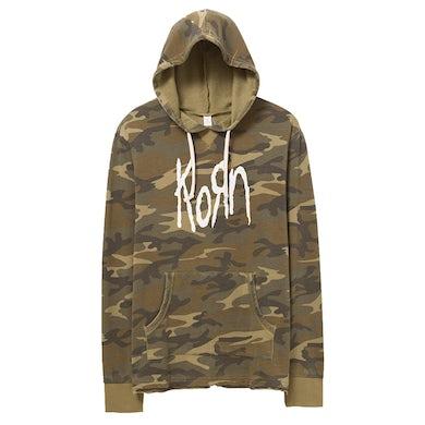 Korn Logo Camo Hoodie