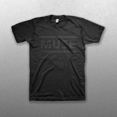Muse All Black Clean Logo T-Shirt