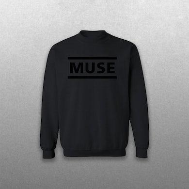 Muse All Black Clean Logo Sweatshirt