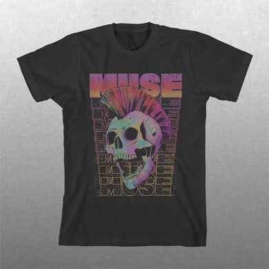 Muse Mohawk Skull T-shirt