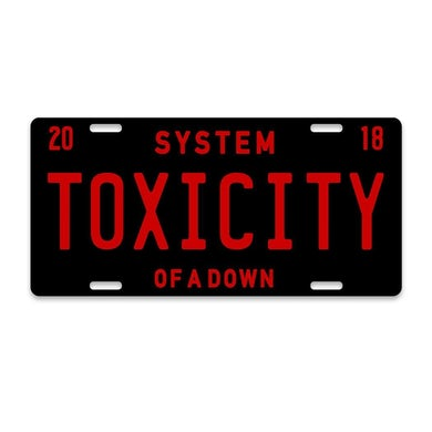 System Of A Down Toxicity License Plate