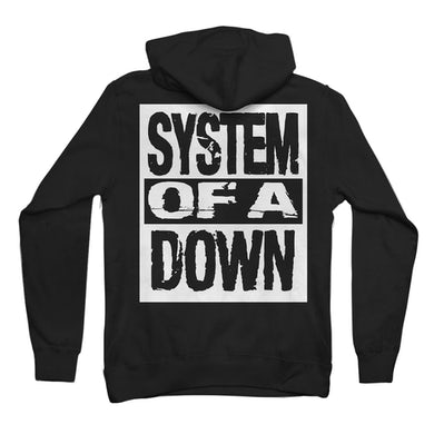 System Of A Down System Stack Logo Zip Hoodie