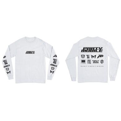 PARTYNEXTDOOR PARTYMOBILE Drop 3 Logo Long Sleeve White T-Shirt