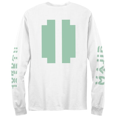 8737ff31e598 Majid Jordan Block Logo Inverted Long Sleeve T-Shirt