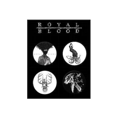 Royal Blood Button Set