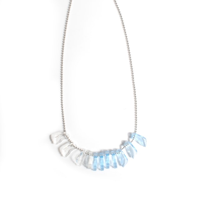 Waterparks Awsten Necklace- Clear and Blue