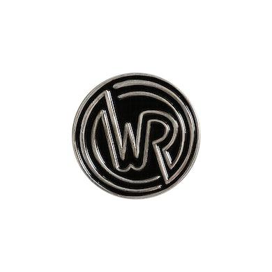 White Reaper Circle Logo Enamel Pin