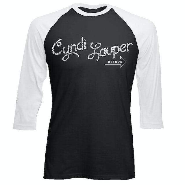 Cyndi Lauper Logo Baseball T-Shirt