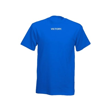 Nipsey Hussle Victory Embroidered Blue T-Shirt