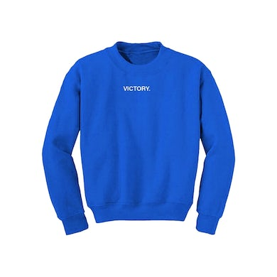 Nipsey Hussle Victory Embroidered Blue Crew Neck