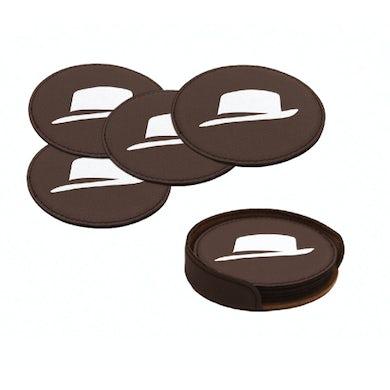 Frank Sinatra Fedora Leatherette Coasters (Set of 4)