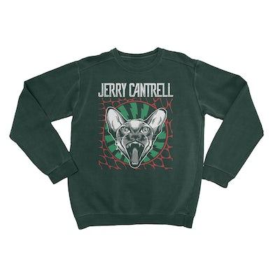 Jerry Cantrell Feline Fangs Crewneck Sweatshirt