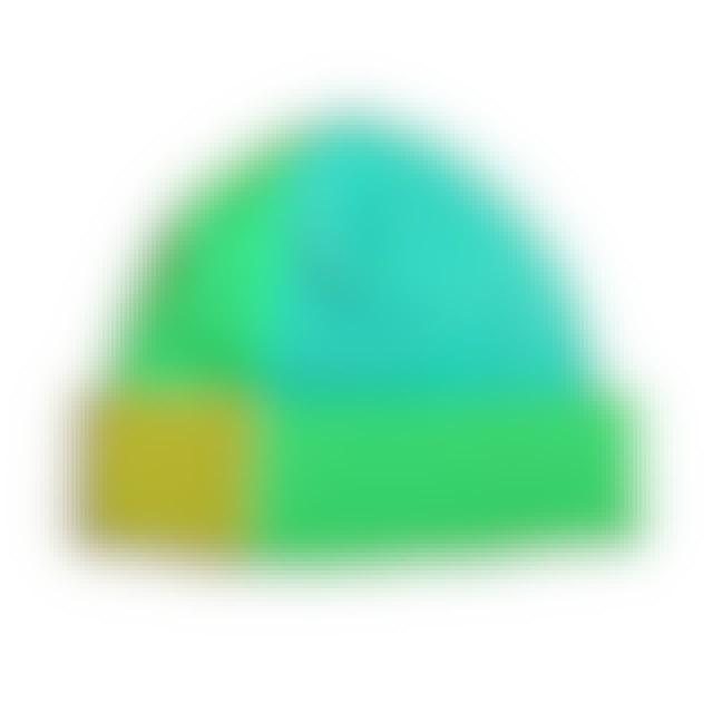 Krewella Green Block Beanie