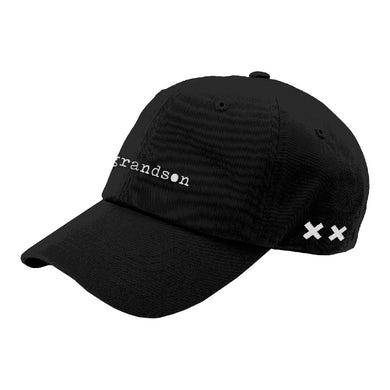 grandson Typewriter Logo Dad Hat