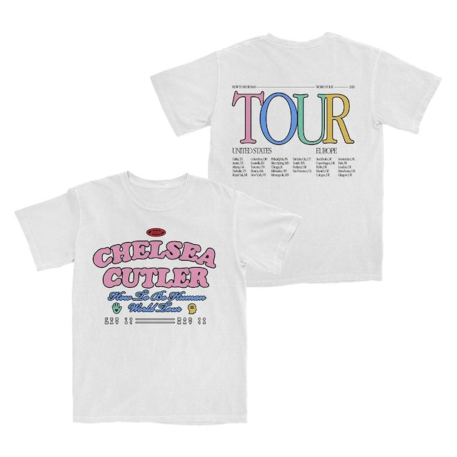 Chelsea Cutler White HTBH Tour T-Shirt