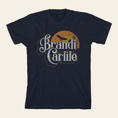 Brandi Carlile  Curly Desert Scene Front Juniors T-Shirt