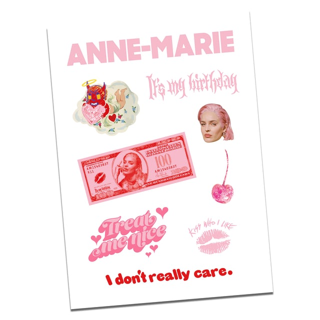 Anne-Marie Birthday Sticker Set