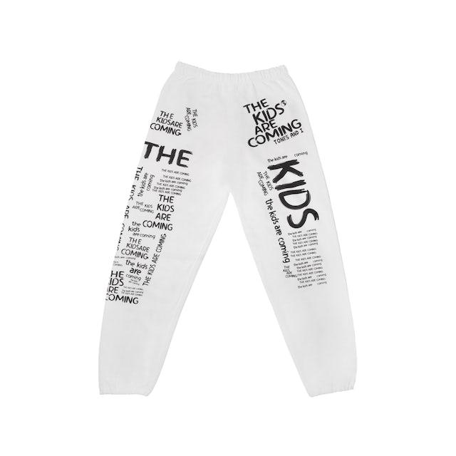 Tones And I The Kids (WHITE) Sweatpants