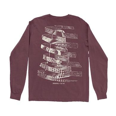 Spiral Majesty Burgundy Longsleeve T-Shirt