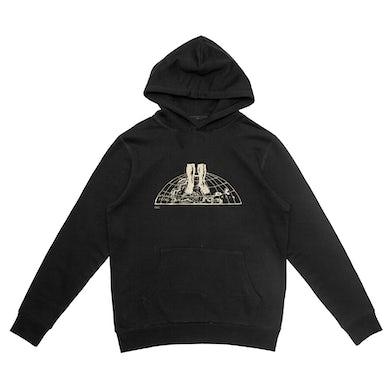 World Graphic Black Hoodie