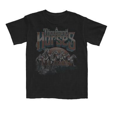 A THOUSAND HORSES Running Horses T-Shirt