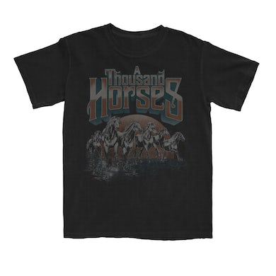A THOUSAND HORSES Running Horses T-Shirt
