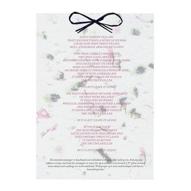 Hayley Williams Seed Paper Lyric Sheet