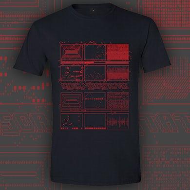 65daysofstatic ASCII RED BLACK T-SHIRT