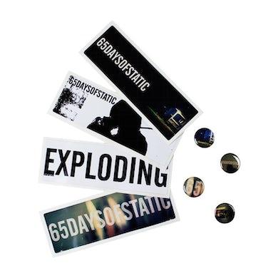 65daysofstatic Badge and Sticker set