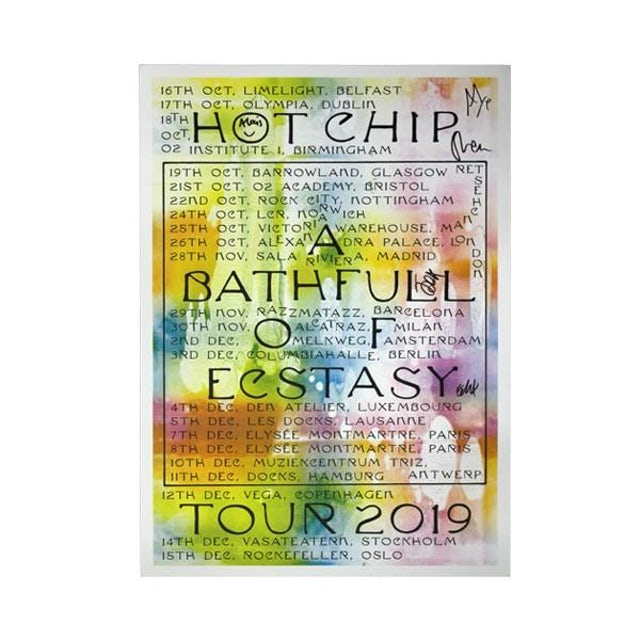 Hot Chip 2019 UK/EU TOUR POSTER (Signed)