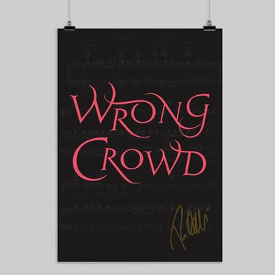 Tom Odell Wrong Crowd Signed A2 Poster