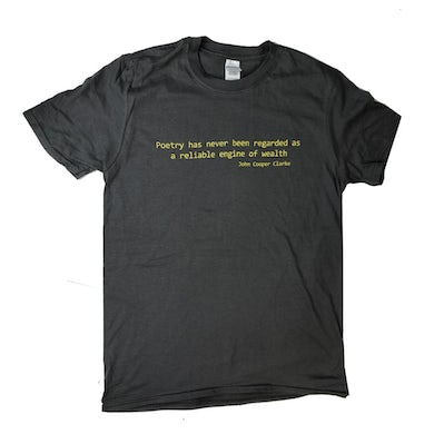 POETRY QUOTE GREY T-SHIRT