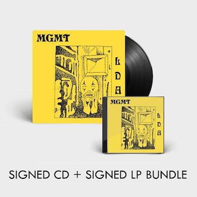 MGMT LITTLE DARK AGE - SIGNED CD + SIGNED LP BUNDLE (Vinyl)