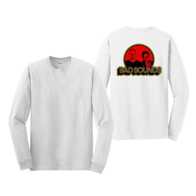 RED SPOT LOGO WHITE LONGSLEEVE T-SHIRT