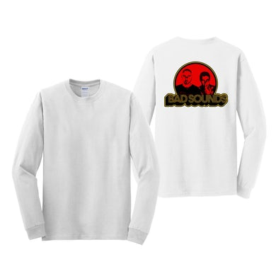 Bad Sounds RED SPOT LOGO WHITE LONGSLEEVE T-SHIRT