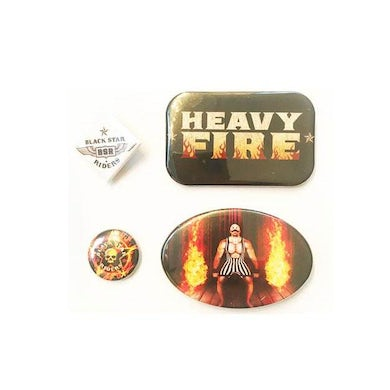 Black Star Riders Heavy Fire Badge Set