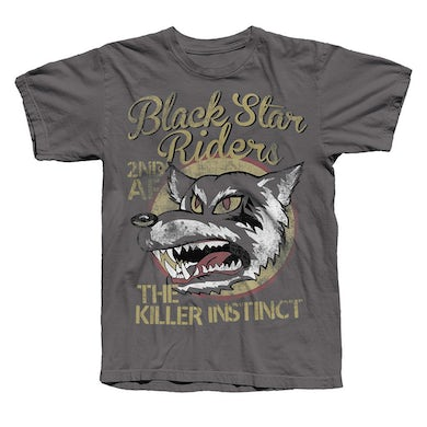 Black Star Riders Charcoal Wolf T-Shirt