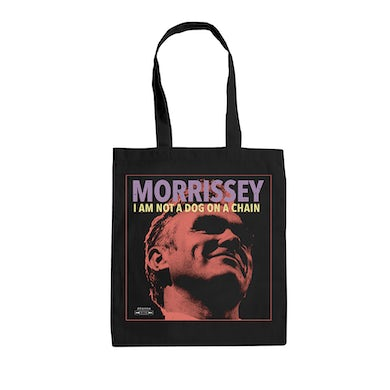 Morrissey I AM NOT A DOG ON A CHAIN TOTE BAG