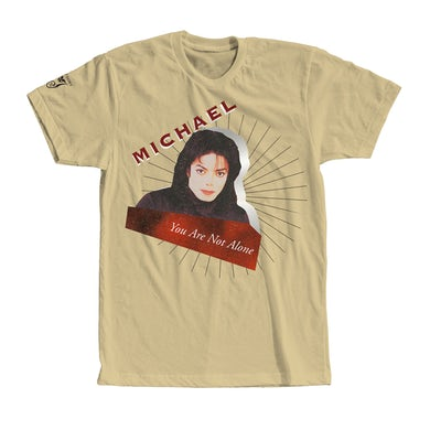 Michael Jackson YOU ARE NOT ALONE TAN T-SHIRT