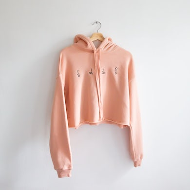 Hippo Campus CROPPED LOGOS HOODIE