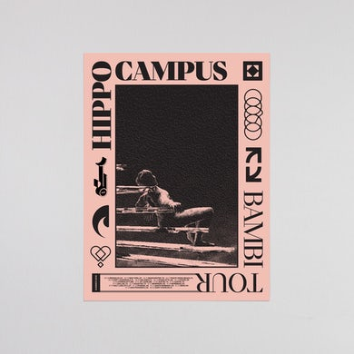 Hippo Campus BAMBI SUMMER 2019 AUTOGRAPH POSTER