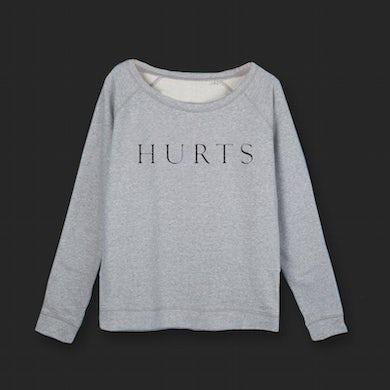 Hurts GIRLS EMBROIDERED LOGO GREY SWEATSHIRT