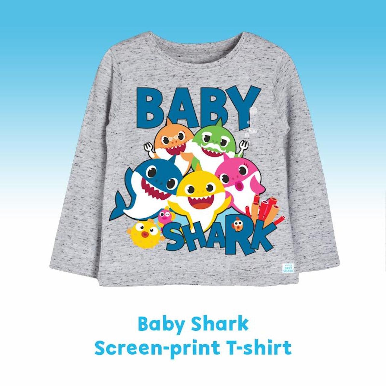 1a9eb490 Pinkfong Baby Shark Heather Grey T-Shirt