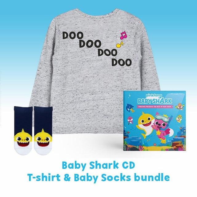 50eaa532e Pinkfong The Best of Baby Shark - CD + T-Shirt + Baby Shark Socks