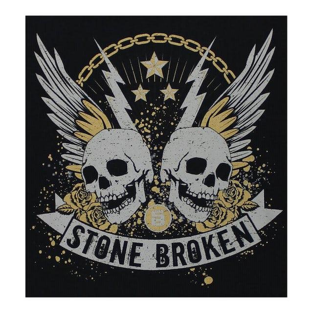 Stone Broken TWIN SKULLS 2018 TOUR BLACK T-SHIRT