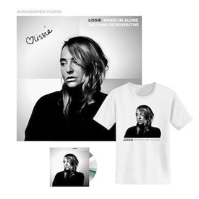 Lissie WHEN I'M ALONE: THE PIANO RETROSPECTIVE CD/TEE BUNDLE