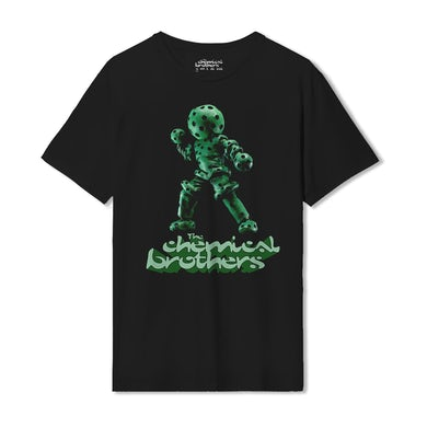The Chemical Brothers THE GREEN GLOBULE (緑色液球体) BLACK T-SHIRT